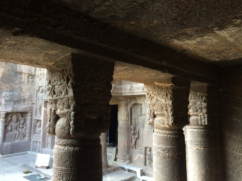 Intricate carvings on the pillars.